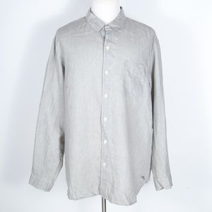 Tommy Bahama Light Gray 100% Linen Shirt